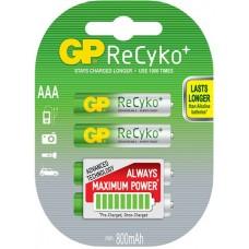 ReCyko+ NiMH Rechargeable Batteries, 800mAh, 4 x AAA per Blister