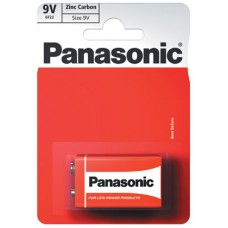 9V PP3 Panasonic Zinc Carbon - Single Pack