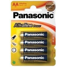 AA Panasonic Alkaline Bronze Range - 4 Pack