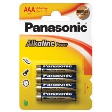 AAA Panasonic Alkaline Bronze Range - 4 Pack