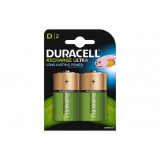 Duracell Recharge Ultra NiMH D Battery Card of 2