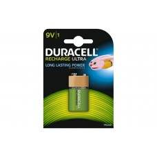 Duracell Recharge Ultra NiMH PP3 Battery Card of 1