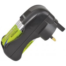 4-Way battery charger with batteries