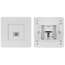 Network RJ-45 Keystone Faceplate, Single Outlet