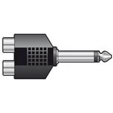 6.3 Plug - 2 x Phono Skt