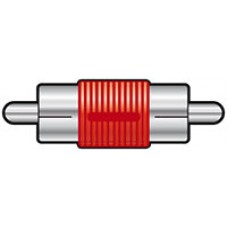 Adaptor RCA plug to RCA plug, Red