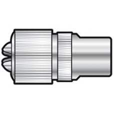 BA13 Nickel plated precision coaxial plug - bulk
