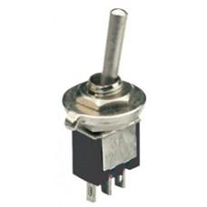 Sub-miniature toggle switch, 1 x on/on, 3.2 x 8.2mm, 250Vac, 1A