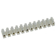 T30A60B Terminal block, 12-way, 5.8/16mm², 30A - clear