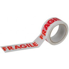 Carton Sealing Tape, Fragile, 48mm x 66m, 25 microns