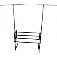 1.7m wide DJ stand with 2.5m single bar lighting rig