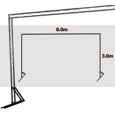 TrussLite Goal Post Kit 5 - 6000mm (W) x 3000mm (H) For Starcloths only