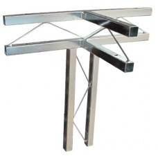 TrussLite vertical & horizontal T-piece - 500mm x 500mm x 250mm(Horizontal) w/ 4 couplers & ez pins