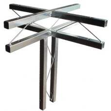 TrussLite horizontal cross piece w/vertical leg 500mm x 500mm x 500mm (accessories not included)
